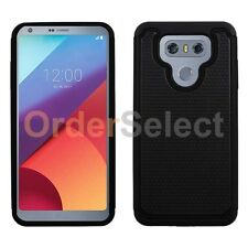 NEW HOT! Hybrid Rugged Rubber Protector Hard Case for Android Phone LG G6 Black