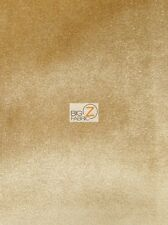 SOLID BUTTER VELVET DRAPERY UPHOLSTERY FABRIC - Gold - BY YARD SOFA ACCESSORIES