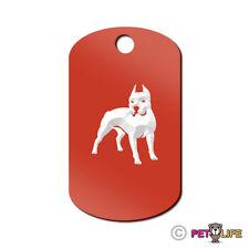 Pit Bull Engraved Keychain GI Tag dog APBT Many Colors