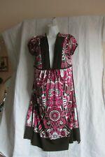 Taboo Women's Dress Short Sleeve Multicolor Dupatta Pattern Size 3X