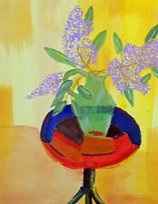 """Lilacs"" Original acylic on heavy water color paper by Harry W. Hallman"