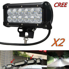 "2pc 7"" 36W Cree LED Flood Beam Offroad Work Light Bar Car Truck 4x4 Driving Lamp"