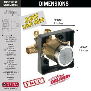 Delta R10000-UNBXHF Multichoice Universal Shower Valve Body for Faucet Trim Kits