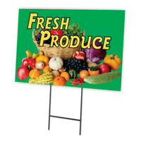 FRESH PRODUCE FULL COLOR DOUBLE SIDED SIDEWALK SIGN