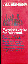 Allegheny Airlines Systemwide Timetable January 7 1975 Montreal