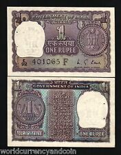INDIA 1 RUPEE P77m 77n 77o 77p 77r 77t 1973 1974 1975 1976 UNC CURRENCY ONE BILL