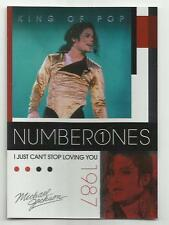 2011 Panini Michael Jackson King Of Pop Number Ones Platinum #184 (CAN'T STOP))