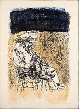"""Carlo MATTIOLI """"Carrà seduto"""" 1965 rara litografia originale firmata"""