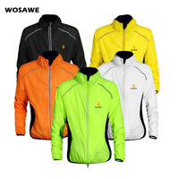 Reflective Cycling Jacket Wind Coat MTB Road Bike Windproof Hi Vis Jersey Tops