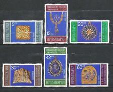 Bulgarie 1986 art médiéval Yvert n° 3017 à 3022 neuf ** 1er choix