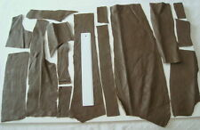 OLIVE GREEN LEATHER REMNANTS, REPAIRS, LARP, PURSES, ELBOW PATCHES ETC  - #3082