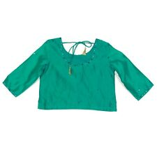 NEW FABINDIA Top Lehenga Emerald Green Girls size 6-8 Years Indian NWT - 260