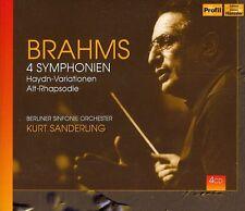 Kurt Sanderling, J. Brahms - 4 Symphonies [New CD]