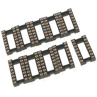 10pcs 2.54 mm Pitch Row Pitch Flat Pins Soldering DIP IC Chip Socket Adaptor