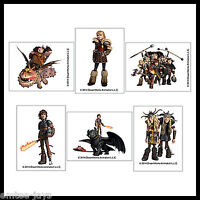 How to Train Your Dragon Tattoos x 12 - Birthday Party Favours -Hiccup/Toothless