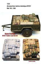 1/35 Resina M101 trailer load estiba accesorios remolque tanque italeri tamiya