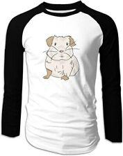 Guinea Pig Face Man Baseball T-Shirts Athletic Cotton Long Sleeve Tee