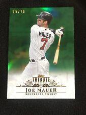 2013 Topps Tribute Joe Mauer Green 70/75 Minnesota Twins ⭐️