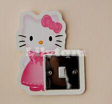Hello Kitty Interrupteur couverture autocollant Glow dans Dark Filles Décoration Chambre
