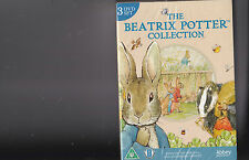 THE BEATRIX POTTER COLLECTION DVD SEALED KIDS PETER RABBIT 3 DISC SET