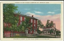 Walker Taverns Brooklyn MI Mich Michigan Advertisement Postcard
