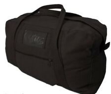 "Canvas Army Echelon Bag 26"" Black Cotton Heavy Duty 60L Cadet Duffle Carry All"