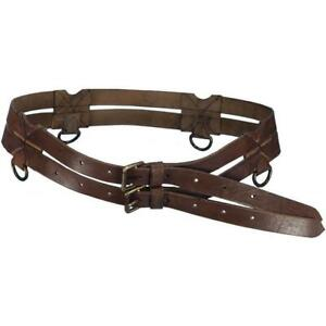 MEDIEVAL KNIGHT CRUSADER RENAISSANCE LEATHER TWIN BELT LARP, COSPLAY