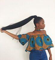 African/Ankara print/fabric off the shoulder bardot top with choker