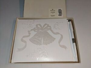 NEW Hallmark Wedding Guest Book Album with Attached Pen in Box