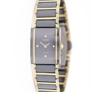 Rado Integral Jubile Diamonds Black & Gold Tone Ceramic Ladies Watch 153.0283.3N
