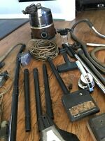 HUGE LOT Vtg Rainbow Vacuum Cleaner Canister AquaMate Attachments Accessories