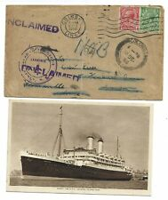 """To RMS """"Orontes"""" from London, re-directed to Freemantle Australia."""