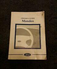 MONDEO GHIA MK2 OWNERS MANUAL