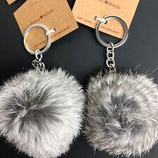Brandy Melville Fuzzy Fur Ball Pom Pom Keychains 2 Pc Gift Christmas Stocking