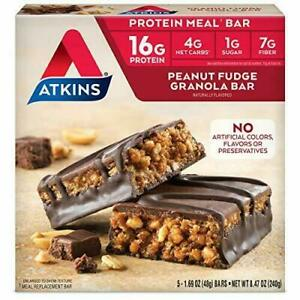 Atkins Meal Bars, Peanut Fudge Granola, Keto Friendly