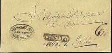 O) 1854 MEXICO, RECAUDO DE CONTRIB. CHETTA - 6 REALES,  PREFILATELIC, XF