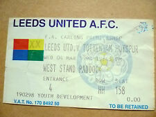 Ticket-1998 LEEDS UNITED v TOTTENHAM HOTSPUR, 4 March (F A Carling Premiership)