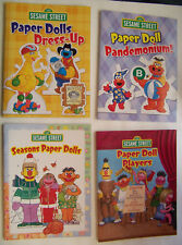 Sesame Street 4 Paper Doll Books Seasons, Dress Up, Pandemonium, Players