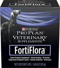 Purina Fortiflora Dog Nutritional Supplement 30 Sachets Expires May 2022