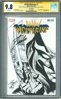 CGC 9.8 SS All New Wolverine #1 Sketch By Leonard Kirk, Stan Lee Signed. CGC 9.8
