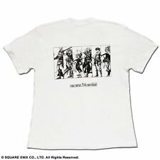 Final Fantasy 25th Anniversary T-shirt Japan Official White size M(JP) US S MINT