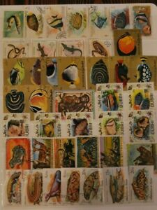Topical Stamps 100 Different Space Birds Animals Dogs Art & More 5 diff packets