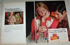 1970 ad page -model CHERYL TIEGS for Knox Gelatine Drink beauty VINTAGE Print AD