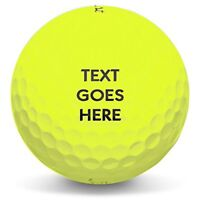 Personalized Text or Logo on New Yellow Golf Balls - 1 Dozen Packaged in Sleeves
