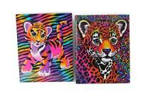 Lisa Frank Portfolio Folder Forrest Wild Cat 2 Pocket Binder Style Set of 2