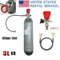 Hunting 30CFT 3L CE Scuba Carbon Fiber Air Cylinder 4500psi PCP Tank w/Vavle US