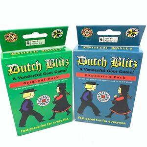 Dutch Blitz Original & Expansion Pack Set Card Game Basic Combo Pack New Sealed