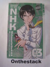 MANGA: Welcome to the NHK (N.H.K.) Vol. 3 by Kenji Oiwa (2007,Paperback) Sealed!
