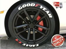 "Tire Lettering GOOD YEAR EAGLE F1 permanent Stickers 14""-24"" DECAL 4+1 PACK1.25"""