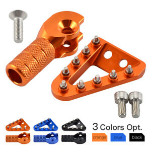 CNC Brake Pedal Plate + Shift Lever Tip For KTM 125-500 SX SXF XC XCF XCW EXC-F